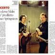 Articolo in vista del concerto di Jesse a Trieste