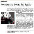 Il Party rock sul giornale locale